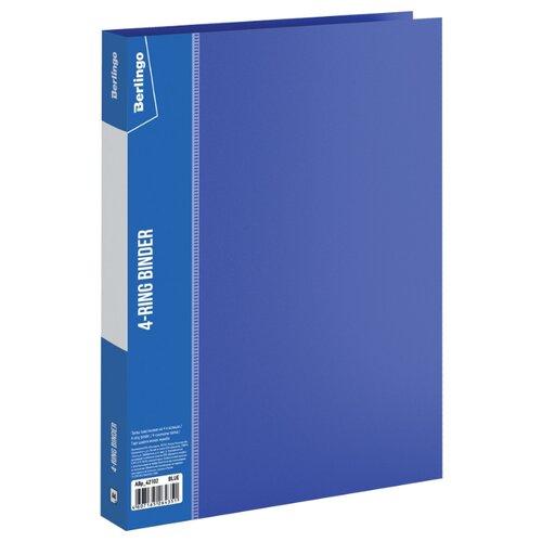Купить Berlingo Папка на 4-х кольцах Standard А4, 25 мм, пластик синий, Файлы и папки