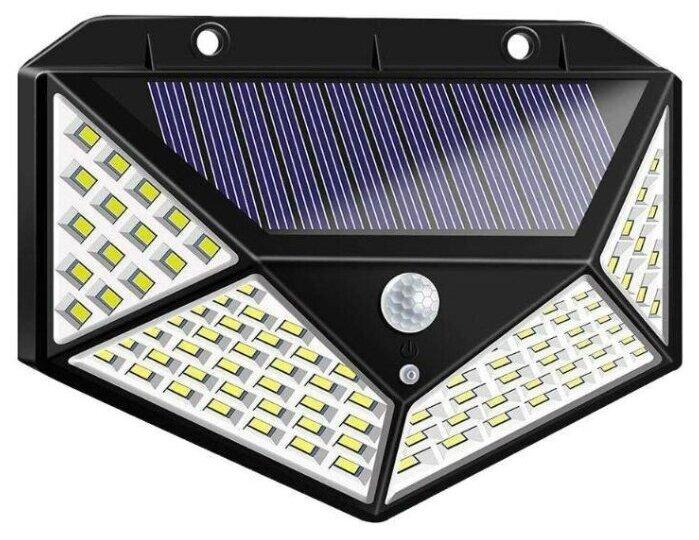 Стоит ли покупать Широкоугольная настенная солнечная лампа 100leds 1200LM с датчиком движения (Черная) - 1 отзыв на Яндекс.Маркете (бывший Беру)
