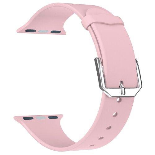 Фото - Lyambda Силиконовый ремешок Alcor для Apple Watch 38/40 mm pink lyambda силиконовый ремешок alcor для apple watch 42 44 mm green