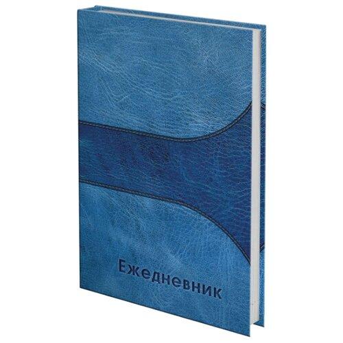 Ежедневник BRAUBERG 121588 датированный, А5, 192 листов, синий ежедневник brauberg new york а5 192 листа