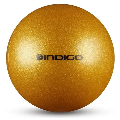 цена Мяч для художественной гимнастики Indigo IN119 золотистый онлайн в 2017 году