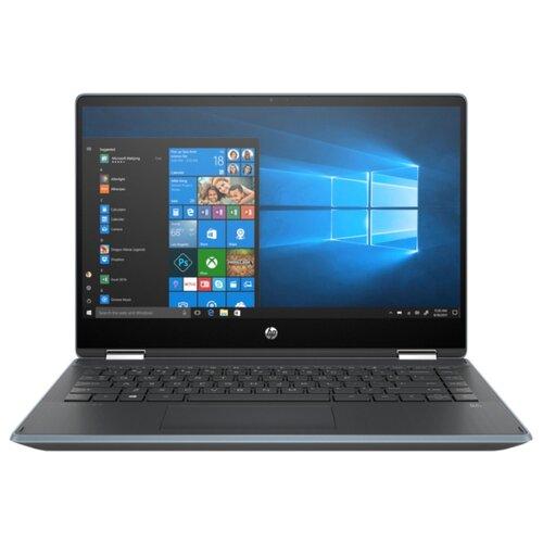 Ноутбук HP PAVILION x360 14-dh1006ur (104A3EA), голубой/пепельно-серебристый ноутбук hp pavilion 14 ce3010ur 8pj89ea минерально серебристый серебристый