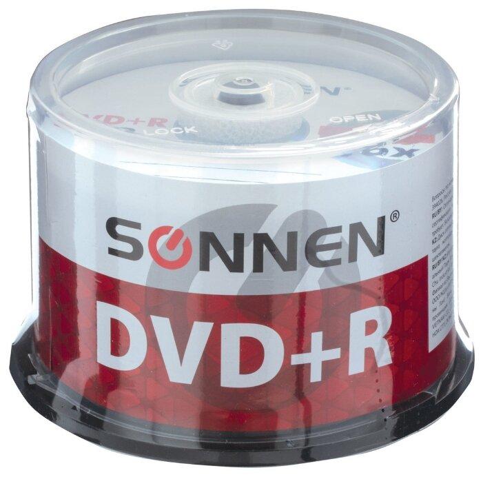 Диск DVD+R SONNEN 4,7 Gb 16x