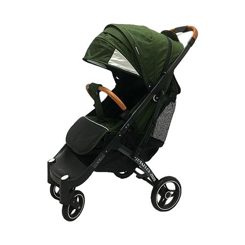 Купить Прогулочная коляска Yoya Plus Pro Max 2020 (дожд., москит., подстак., бампер, сумка-чехол, корзина д/покупок, ремешок на руку, накидка на ножки на молнии, бамб. коврик) зеленый/серая рама, цвет шасси: серый, Коляски