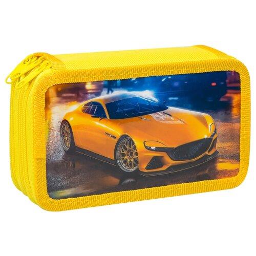 Купить ArtSpace Пенал Турбо (30П25-3_ПК12_25511) желтый, Пеналы