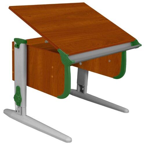 Купить Стол ДЭМИ СУТ-24 75x55 см яблоня/зеленый/серый, Парты и столы
