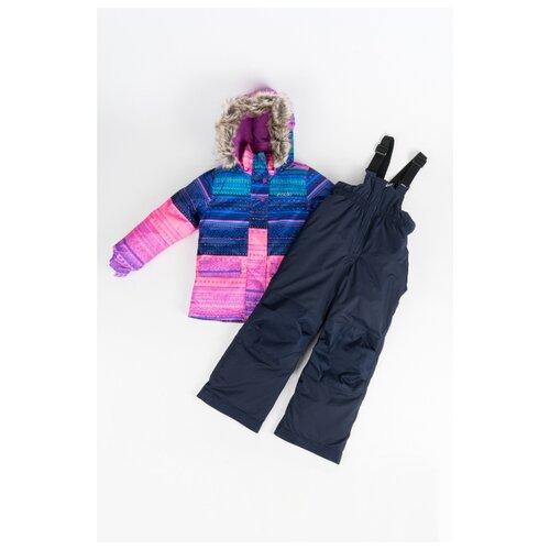 Купить Комплект с полукомбинезоном Buki размер 89, розовый/синий/фиолетовый, Комплекты верхней одежды
