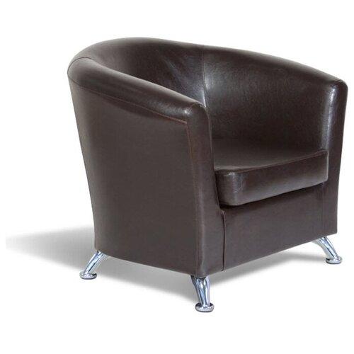 Классическое кресло Шарм-Дизайн Евро размер: 80х79 см, обивка: искусственная кожа, цвет: коричневый