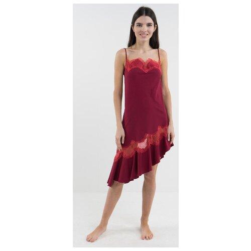 Сорочка D'amore размер XS/40-42 бордовый платье oodji ultra цвет красный белый 14001071 13 46148 4512s размер xs 42 170