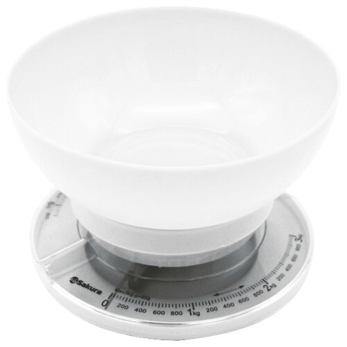 Кухонные весы Sakura SA-6008 белый