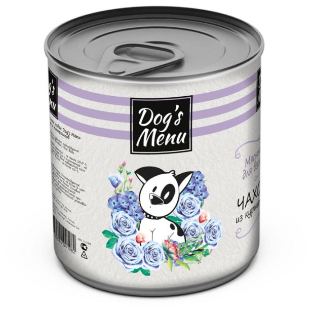 Корм для собак Dog's Menu Чахохбили из курицы и потрошков