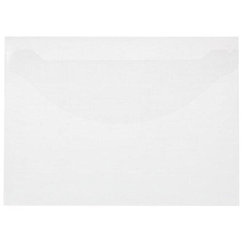 Купить Папка-конверт на клапане 180 прозрачный 10 шт/уп, Attache, Файлы и папки