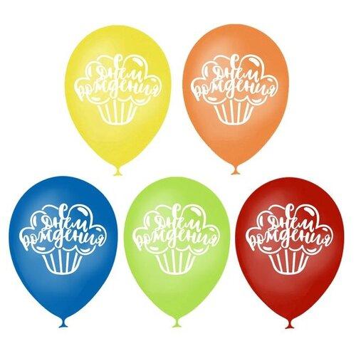 Фото - Шар воздушный Страна Карнавалия 12 С днем рождения, пирожное, двухсторонний, 50 шт (3939741) воздушный шар страна карнавалия цифра 5 сиреневый