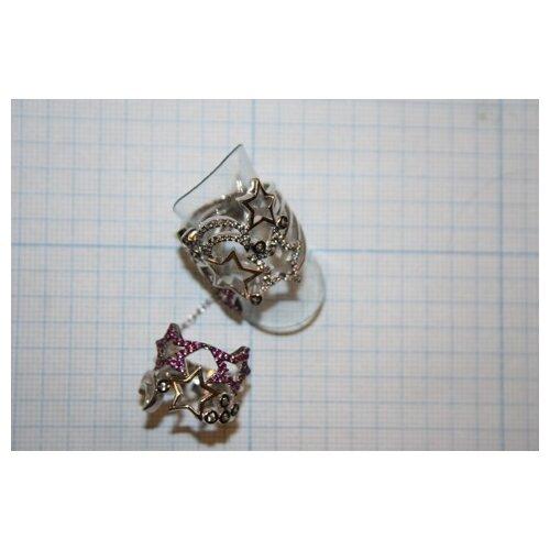 ELEMENT47 Кольцо из серебра 925 пробы с кубическим цирконием WR22525-BH_KO_002_WG, размер 17