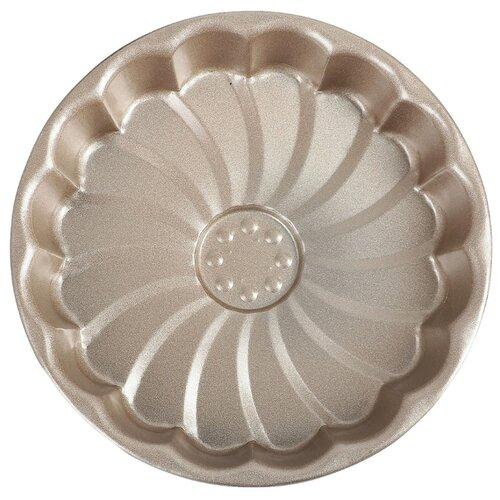 Форма для выпечки Доляна Фортуна. Волнистый круг 3792129 (18.2х3.5 см) форма для выпечки стальная доляна жаклин рифленый круг 3741678 24х5 см