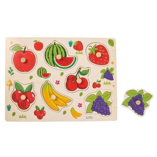 Рамка-вкладыш Лесная мастерская Подбери картинку Ягоды-фрукты (2567253)
