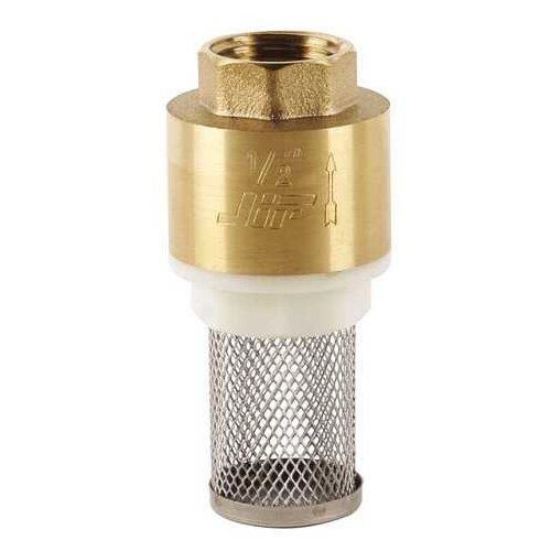 Фото - Обратный клапан пружинный JIF 30356 муфтовый (ВР/ВР), латунь с фильтром Ду 25 (1) клапан itap обратный clapet 4 вр дисковый горизонтальный с металлическим затвором и ревизией