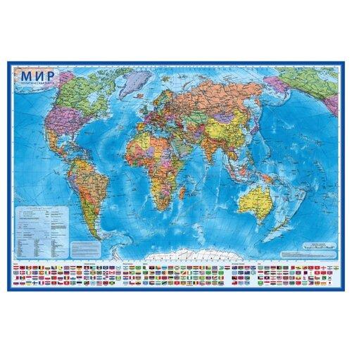 Globen Интерактивная карта Мир политическая 1:32 (КН025)