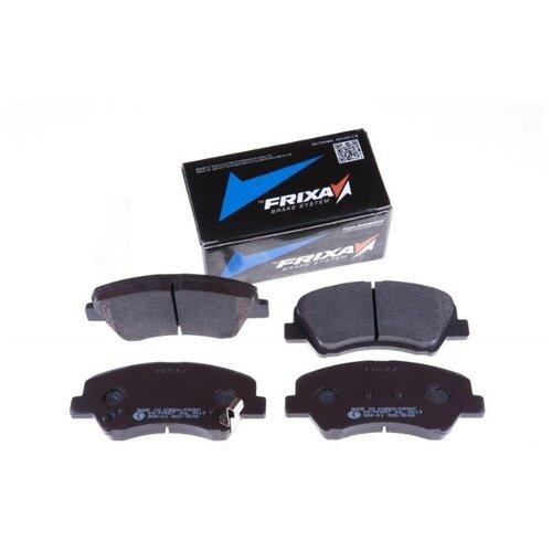Фото - Дисковые тормозные колодки передние Frixa FPH27 для Hyundai Solaris, Kia Rio (4 шт.) дисковые тормозные колодки передние frixa fpe019 для toyota camry 4 шт