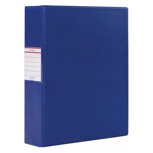 Фото - BRAUBERG Папка на 2 кольцах картон 75 мм синий brauberg папка на 2 х кольцах a4 картон пвх 35 мм синий