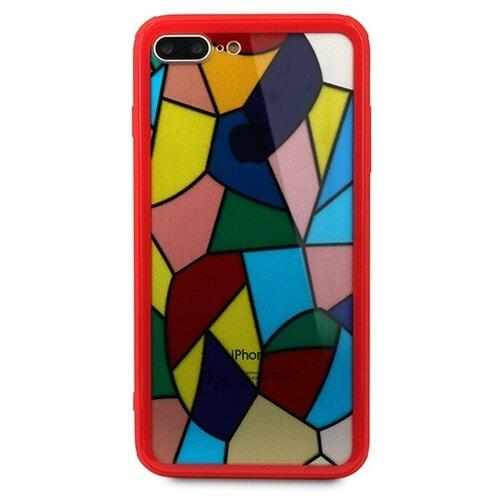 цена на Чехол Pastila Mosaic glass для Apple iPhone 7 Plus/iPhone 8 Plus красный