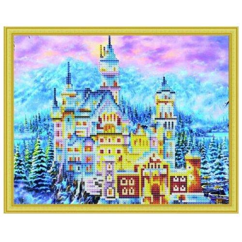 Купить Рыжий кот Набор алмазной вышивки Зимний замок Нойшванштайн (ASH012) 30х40 см, Алмазная вышивка