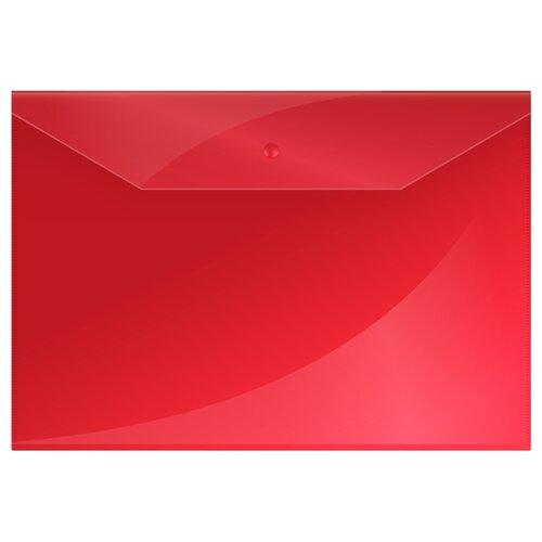 OfficeSpace Папка-конверт на кнопке А4, пластик 150 мкм, 10 штук красный, Файлы и папки  - купить со скидкой