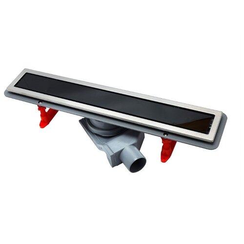Лоток для душа PESTAN Confluo Premium Black Glass Line 650 13000293