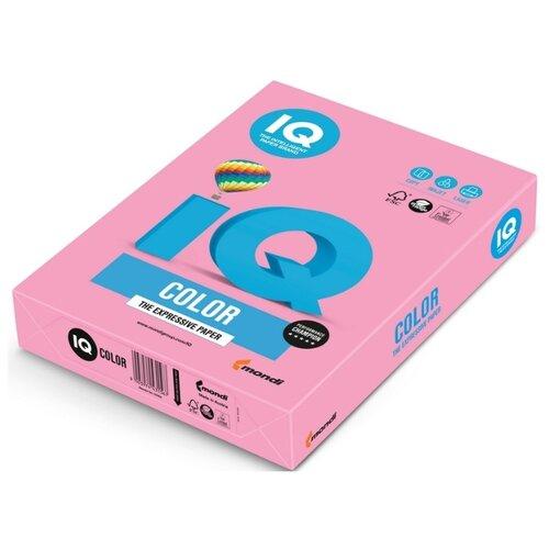 Бумага цветная IQ А4, 80 г, розовый, пачка 500 листов
