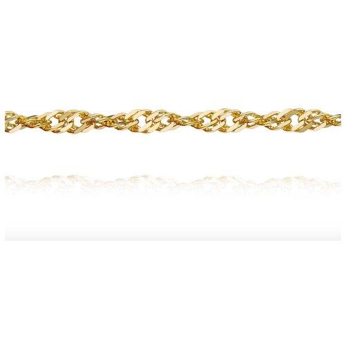 АДАМАС Цепь из желтого золота плетения Панцирь одинарный ЦП235СзА2-А53, 45 см, 3.3 г