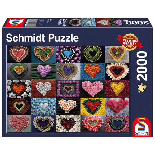 Фото - Пазл Schmidt Цветочные сердца (58327), 2000 дет. пазл schmidt цветочные сердца 58327 2000 дет