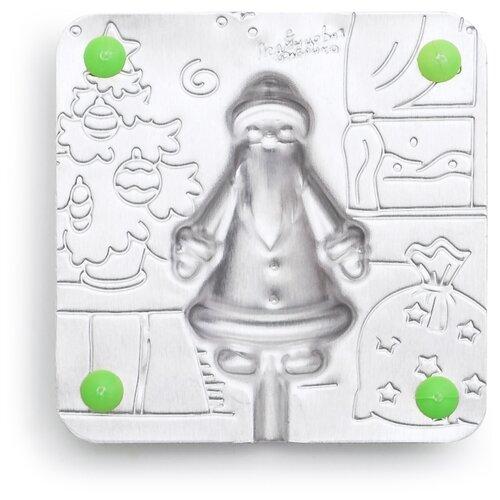 Форма для мороженого Леденцовая фабрика Дед Мороз (0028) серебристый
