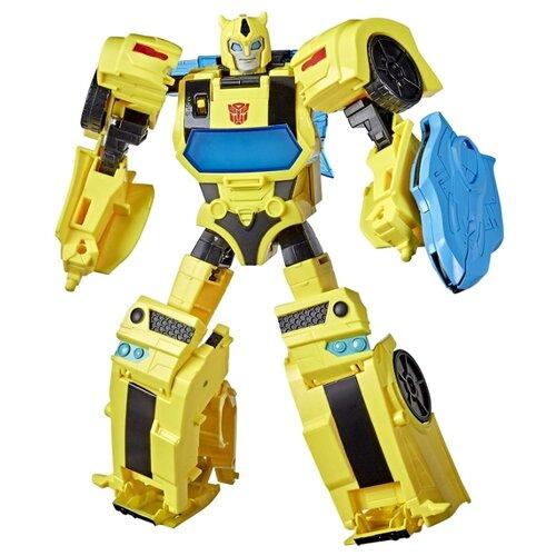 Купить Трансформер Hasbro Transformers Бамблби. Battle Call Officer (Кибервселенная) E8381 желтый, Роботы и трансформеры