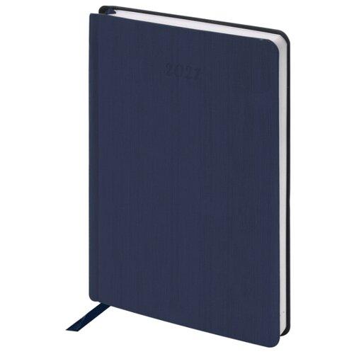 Купить Ежедневник BRAUBERG Voyage датированный на 2021 год, искусственная кожа, А5, 168 листов, синий, Ежедневники, записные книжки