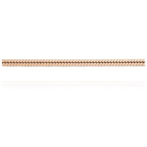 АДАМАС Цепь из золота плетения Панцирь одинарный ЦП140УКВА4-А51, 40 см, 4.79 г