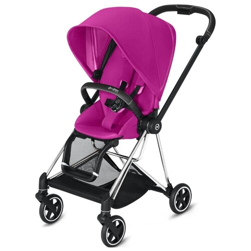 Прогулочная коляска Cybex Mios 2019/2020 fancy pink/chrome/black, цвет шасси: серебристый коляска трость cybex topaz princess pink 2016 516203015