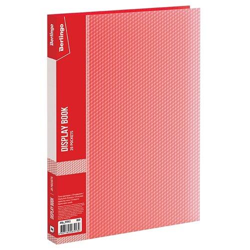 Купить Berlingo Папка с 20 вкладышами Diamond A4, пластик красный, Файлы и папки