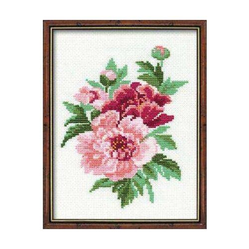 Купить Риолис Набор для вышивания 815 «Пионы» 20 х 26 см, Наборы для вышивания