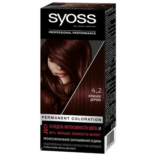 Syoss Color Стойкая крем-краска для волос, 4-2 Красное дерево стойкая крем краска фитокосметик fitocolor для волос 5 6 красное дерево 125мл