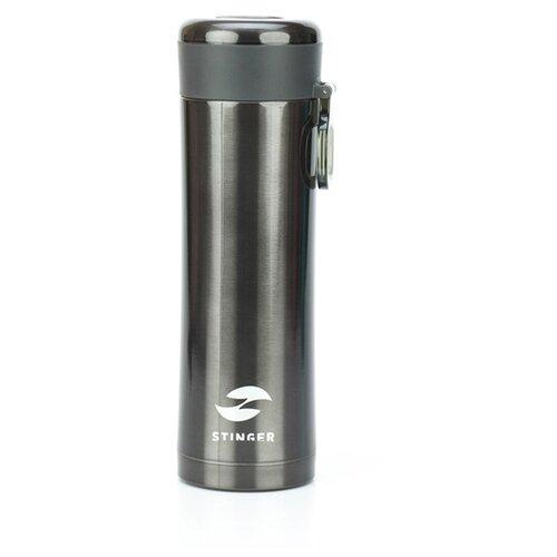 Термокружка Stinger, 0,42 л, сталь/пластик, чёрный матовый, 7,5 х 6,9 х 22,2 см