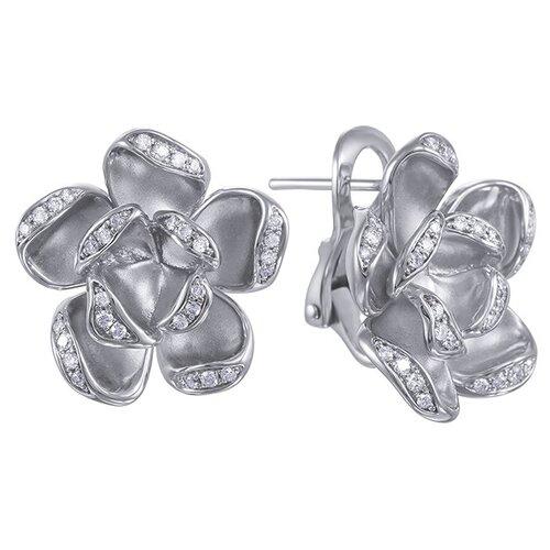 JV Золотые серьги с бриллиантами AAS-3809E-SR-WG
