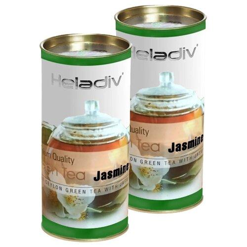 Чай зеленый Heladiv Premium Quality Green Tea Jasmine, 100 г, 2 уп. чай зеленый heladiv golden ceylon green gunpowder tea 100 г