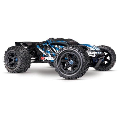 Купить Трагги Traxxas E-Revo 6S (TRA86086-4) 1:10 58.5 см черный/синий, Радиоуправляемые игрушки