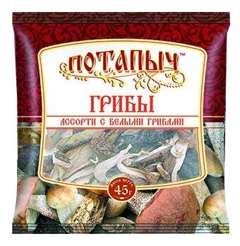 Потапычъ Ассорти с белыми грибами, пакет полиэтиленовый (Россия)