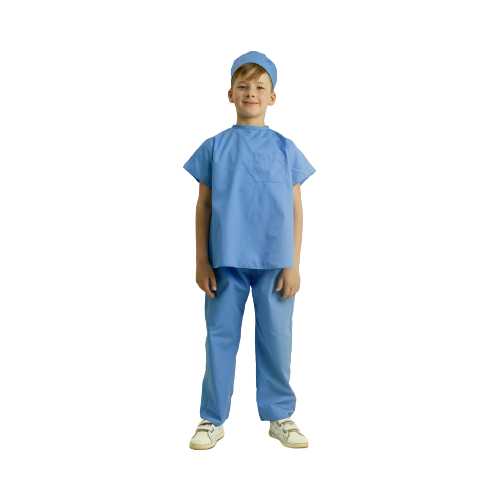 Купить Костюм ВИНИ Хирург (ВК-61010), голубой, размер 122-128, Карнавальные костюмы