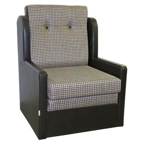 Кресло-кровать Шарм-Дизайн Классика Д размер: 77х83 см, , размер спального места: 190х62 см, обивка: комбинированная, цвет: корфу коричневый/полярис шоколад