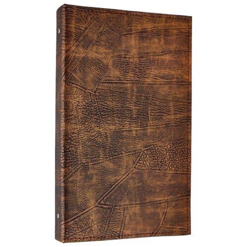 Фотоальбом BRAUBERG под гладкую кожу (390470), 156 фото, для формата 10 х 15, коричневый