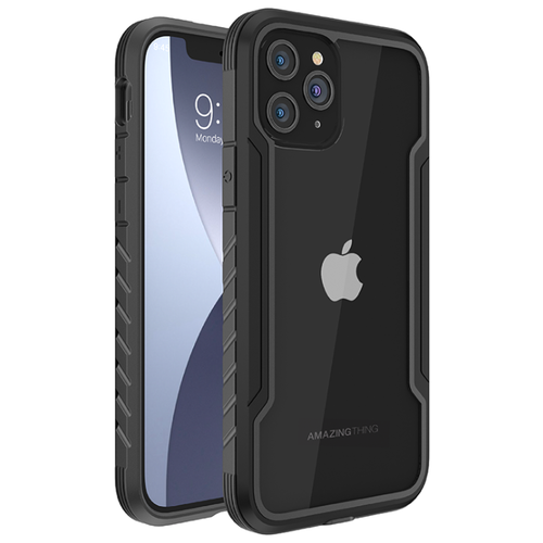 Чехол на для телефона Айфон 12 Pro Max Amazingthing Military Drop-proof Space Black