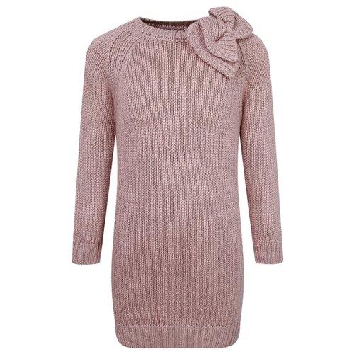 Купить Платье Il Gufo размер 140, розовый/золотой, Платья и сарафаны