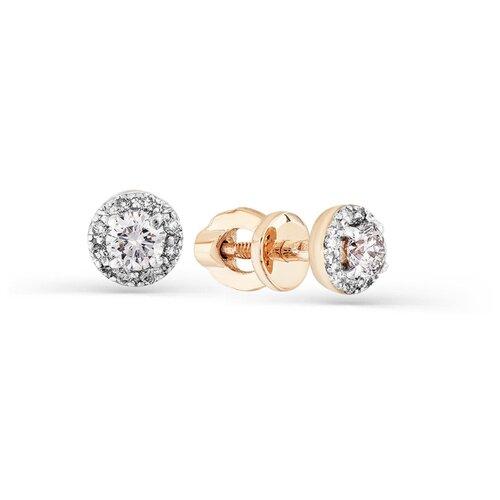 Мастер Бриллиант Золотые серьги с бриллиантом 2-102109-00-00